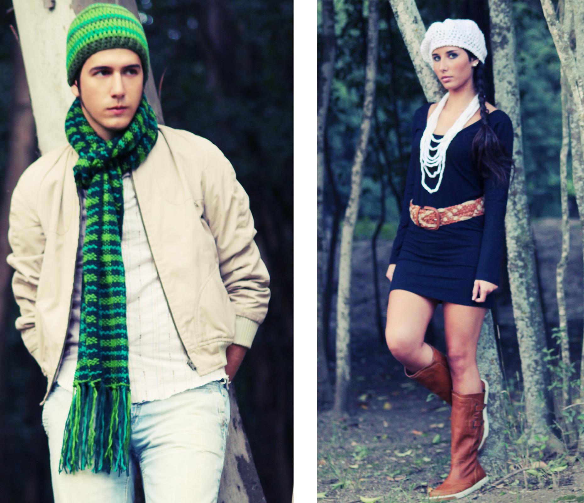 Verdes masculinos bufanda escoces tejida