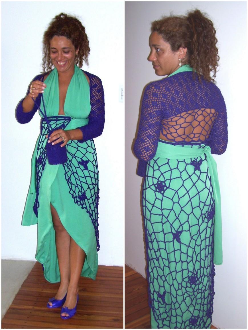 Impactante vestido tejido especialmemte para Moira